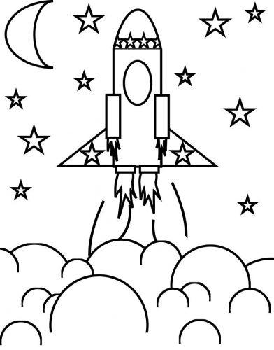 ракета раскраска21