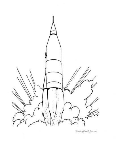 ракета раскраска20