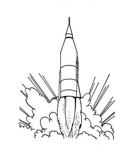 ракета раскраска13