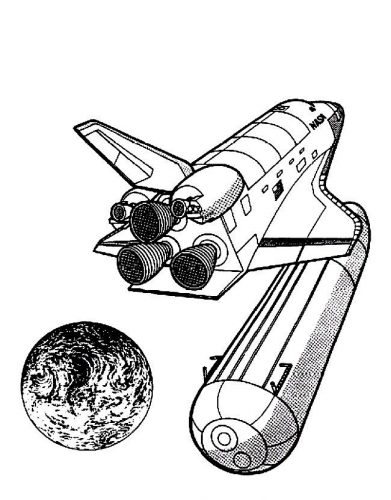 ракета раскраска7