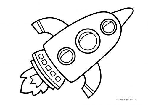ракета раскраска24