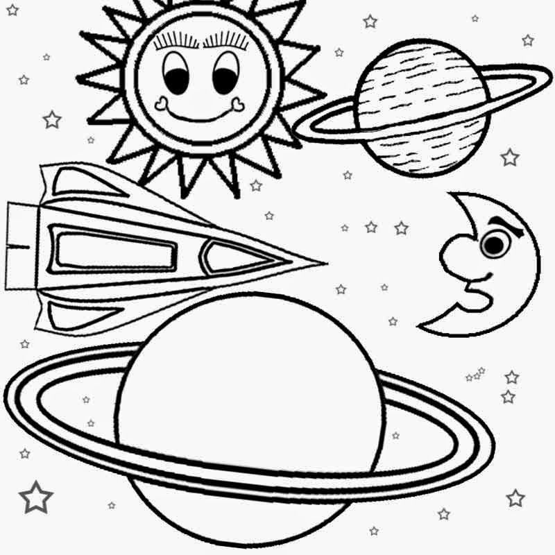 Картинка планет для раскрашивания