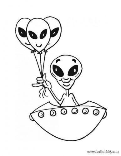 инопланетянин раскраска5