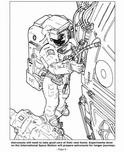 космонавт раскраска7