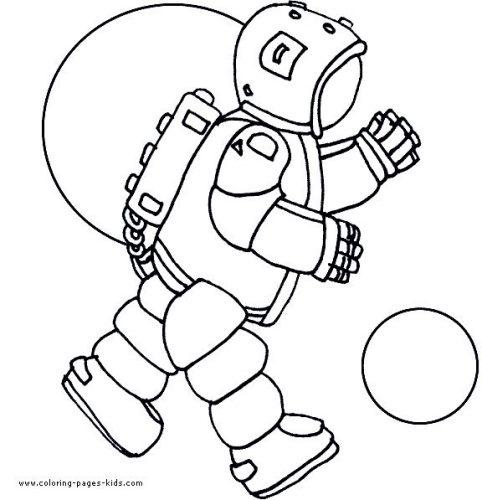 космонавт раскраска6