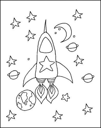 ракета раскраска2