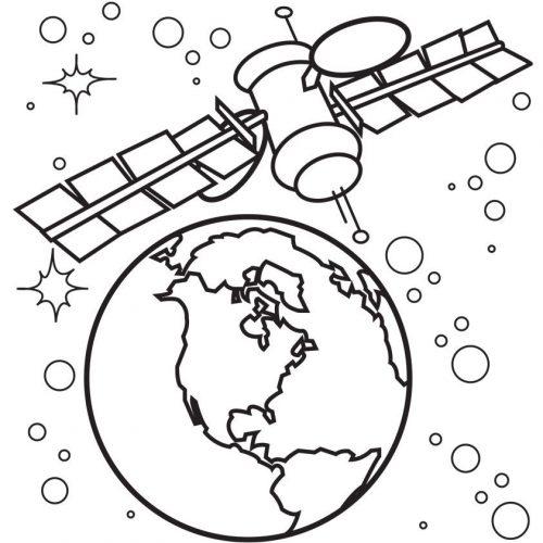 земля из космоса раскраска