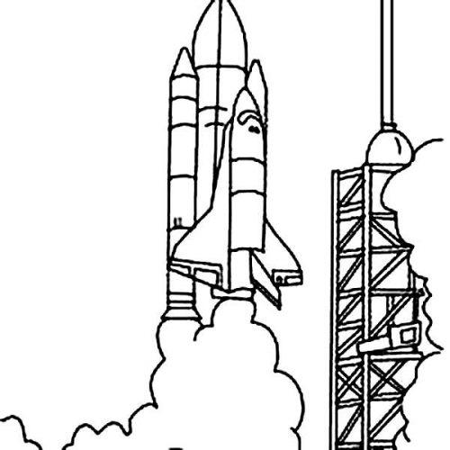ракета раскраска
