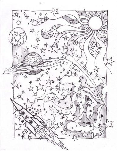 планеты раскраска3