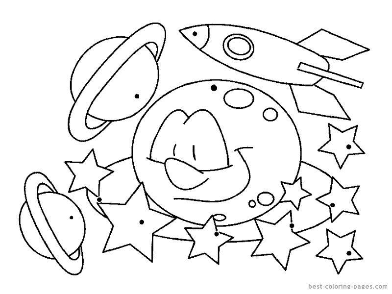 Раскраска про космос, космонавтов и солнечную систему