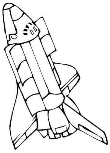 ракета раскраска6