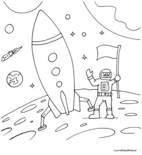 ракета раскраска3