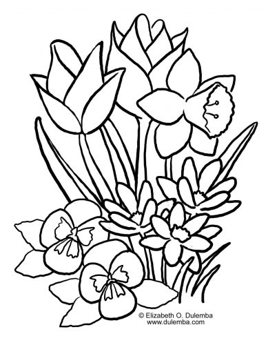 весна раскраска1