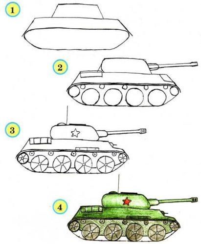 танк по шагам