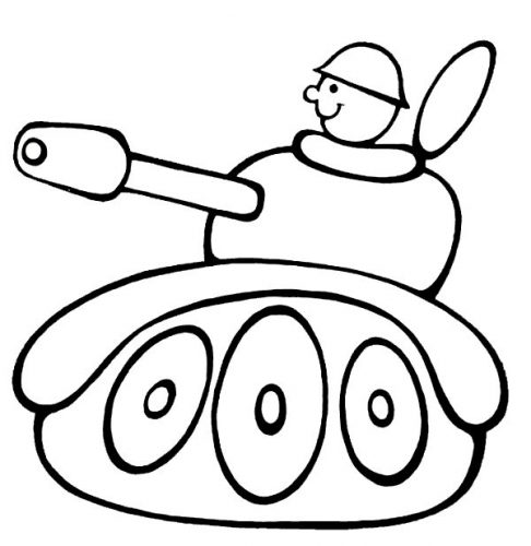 танк раскраска5