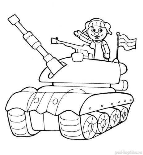 танк раскраска6