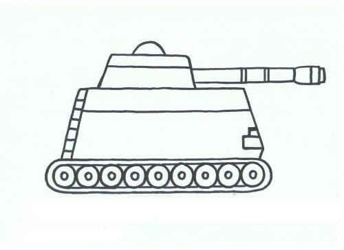 танк раскраска7