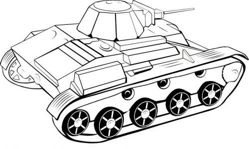 танк раскраска8