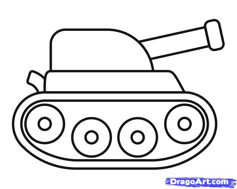 картинки танки для детей раскраски