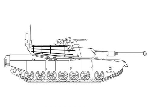 танк раскраска3