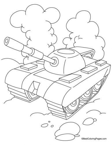 танк раскраска4
