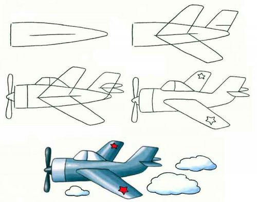 самолет по шагам2