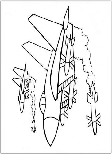 самолет раскраска16