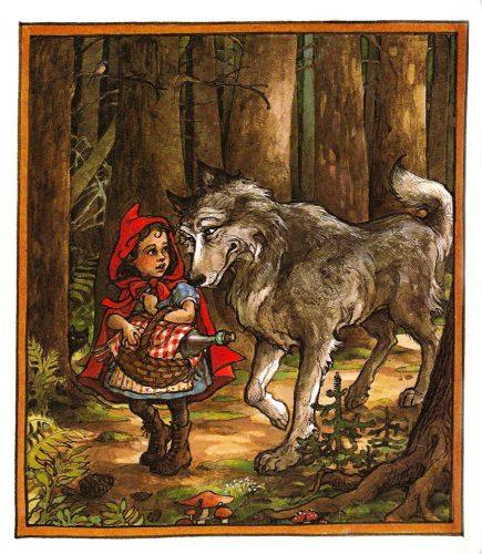 красная шапочка и серый волк каритнки3
