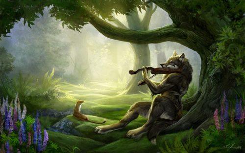 картинки волков фэнтези2