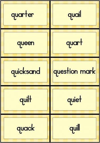 слова на английскую букву q4