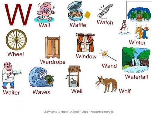 слова на английскую букву w2