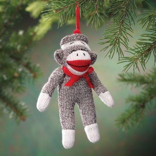 обезьяна елочная игрушка
