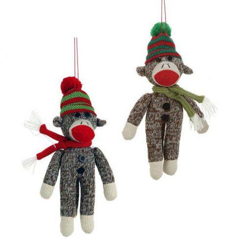обезьянки елочные игрушки