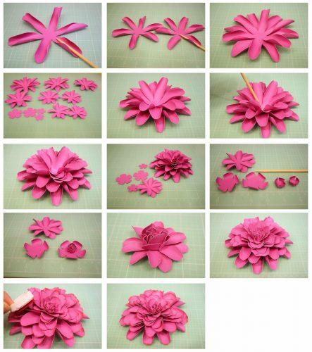 объемный цветок шаблон3