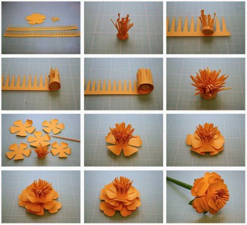 объемный цветок шаблон4