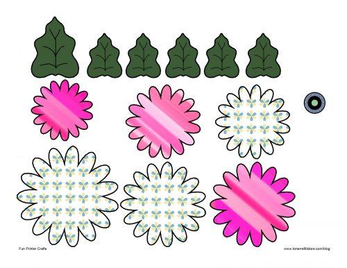 объемный цветок шаблон2