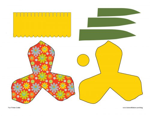 объемный цветок шаблон5