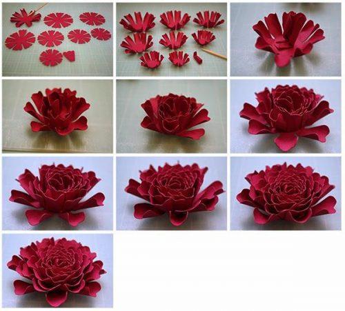 объемный цветок шаблон7