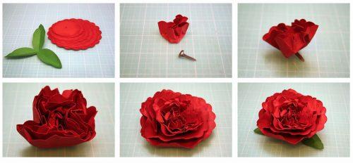 объемный цветок шаблон9