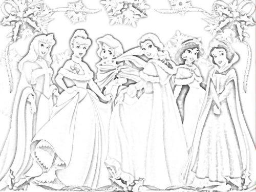 принцессы диснея раскраска5