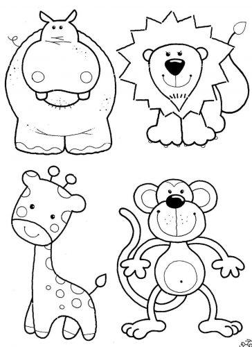 животные раскраска2