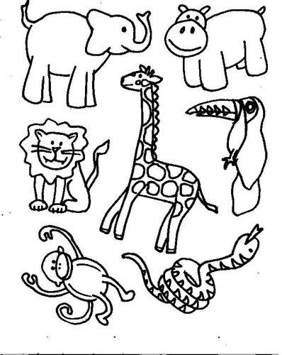 животные раскраска3