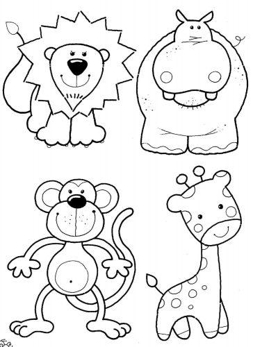 животные раскраска7