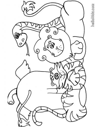 животные раскраска8