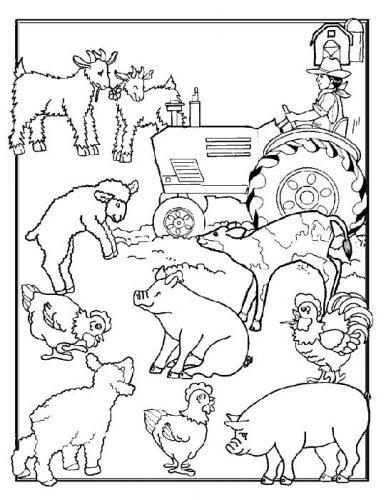 животные раскраска9
