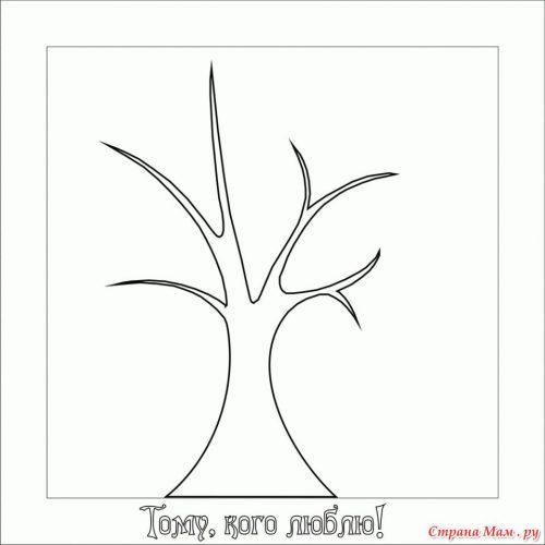 Аппликация дерево2
