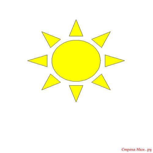 Аппликация солнышко