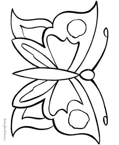бабочка раскраска2