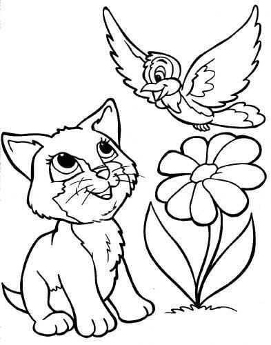 кошка раскраска2