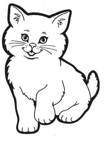 кошка раскраска4